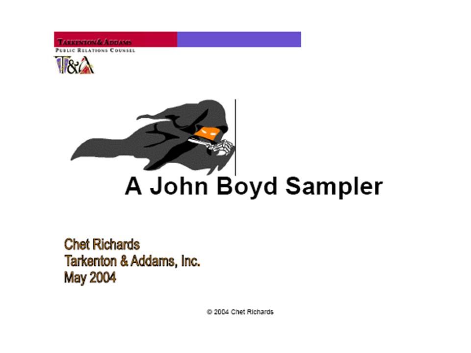 John boyd his essay destruction and creation